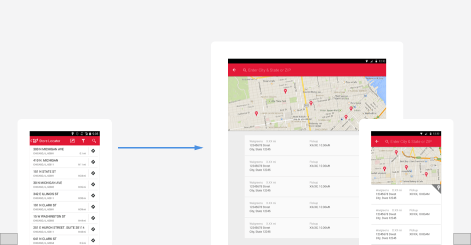 Walgreens Android App Redesign